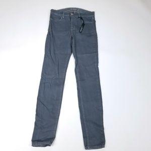 J Brand Skinny Coated  Jeans Fog Gray Size 27